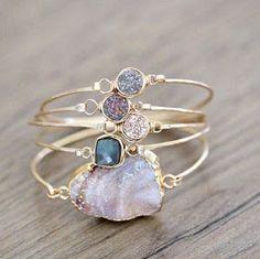 Golden stone bracelets