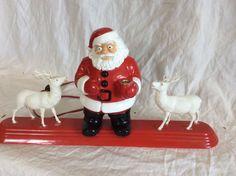 Hard to Find Vintage Royalites Plastic Christmas Santa Reindeer Bubble Lights | eBay