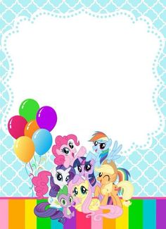 Meggees Invitaciones My Little Pony 4th Birthday Party 5th