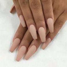 Image result for light pink coffin nails