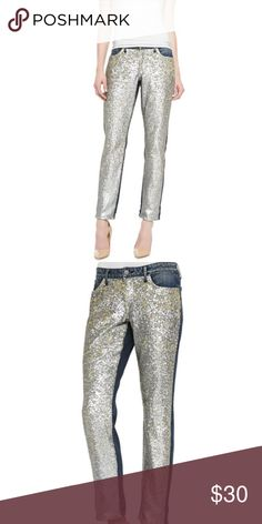 Cookie Johnson Keeper Boyfriend Sequined Jeans CJ by Cookie Johnson - Keeper Boyfriend Sequined-Front Jeans - Starship   Never worn! Just not the right fit for me Cookie Johnson Jeans Boyfriend