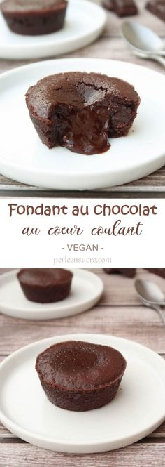 Fondant au chocolat au coeur coulant {vegan}