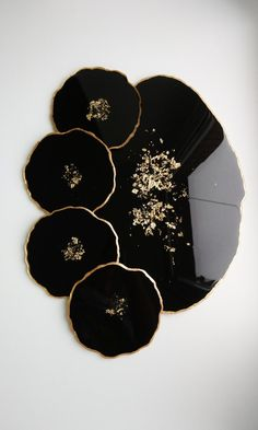 Cheese board and resin coasters set of 4 black coasters for home decor. Gift idea for a housewarming - Art - Cheese board and resin coasters set of 4 black coasters for Epoxy Resin Art, Diy Resin Art, Art Diy, Diy Resin Crafts, Resin Molds, Bedside Table Decor, Black Coasters, Diy Resin Coasters, Resin Jewelry