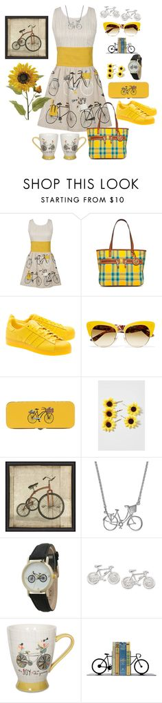 """Enjoy The Ride"" by naviaux ❤ liked on Polyvore featuring Danica Studio, Kim Rogers, adidas Originals, Dolce&Gabbana, Topshop, Jen Ricketts, Geneva, Natures Jewelry and Dot & Bo"