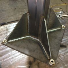 Vice stand base all welded up.