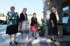 Lt.-Gov. Judith Guichon, left, the Countess of Wessex, Jeneece Edroff and Linda Hughes, CEO of the Children's Health Foundation of Vancouver Island, enter Jeneece Place on Saturday, Sept. 13, 2014.   Photograph By ADRIAN LAM, Times Colonist - See more at: http://www.timescolonist.com/news/local/sophie-jeneece-share-birthdays-and-a-desire-to-touch-our-hearts-1.1356102#sthash.6xUNbhTr.dpuf