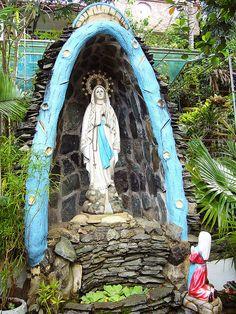 Virgin Mary Alter in garden