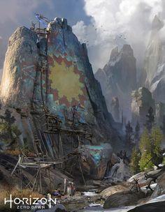 Banuk Rock Painting from Horizon Zero Dawn