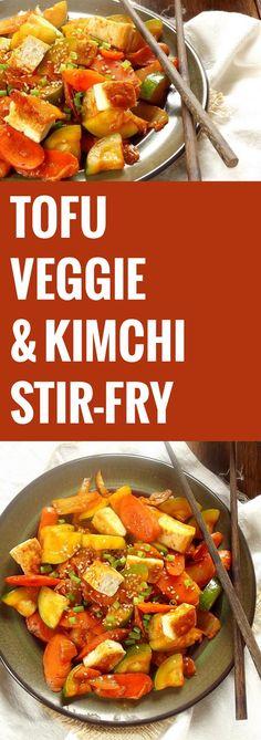 Tofu, Veggie and Kimchi Stir-Fry                                                                                                                                                                                 More
