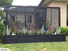*3 metre PLANTER WITH TRELLIS* IN BLACK | Trade Me More