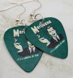 Queen FREDDIE MERCURY //// DAVID BOWIE  Guitar Pick //// Plectrum  Earrings
