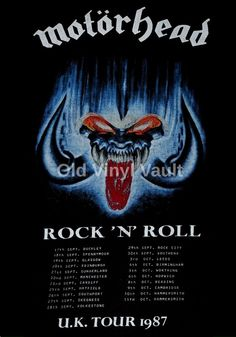 Motorhead concert poster Rock n Roll UK Tour 1987 A3 Repro