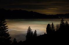 Fog - Above the fog, photographed Triesenberg, Liechtenstein / Über dem Nebel, fotografiert Triesenberg, Fürstentum Liechtenstein.