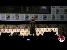 Loki (Tom Hiddleston) at Thor panel SDCC 2013 | Tom is having WAY too much fun with this. XD