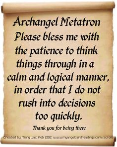 ∆ Archangel Metatron...Archangel Prayers and Messages on Parchment Scrolls