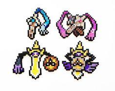 Pokemon Perler Generation 1 Starters and Mega by ShowMeYourBits