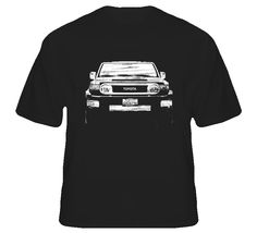statsgeektees - 2010 FJ Cruiser Grill View Distressed Black T Shirt