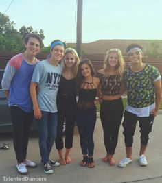 Chloe, Brooke, and Paige with the guys (forever in your mind)