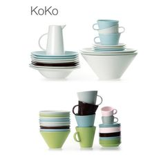 arabia finland koko series Nordic Design, Finland, Dinnerware, Table Settings, Pottery, Plates, Ceramics, Dishes, Tableware