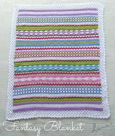 Fantasy Crochet Blanket (free pattern)
