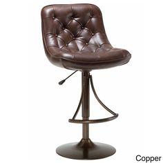 Give your counter or bar space a luxurious accent with this classic Aspen stool. Available in two easy-to-maintain colors, this 360-degree swivel stool features a plush tufted faux leather seat.