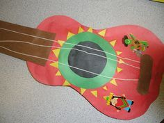 Cinco de Mayo mariachi guitar art project for kids.