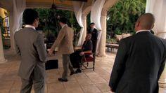 "Burn Notice 4x02 ""Fast Friends"" - Michael Westen (Jeffrey Donovan), Jesse Porter (Coby Bell), Ming Khan (Byron Mann) & Lee (Ron Yuan)"