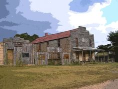Ingalls, Oklahoma Ghost Town. Fine Art Print or Canvas