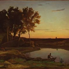 French painter Jean-Baptiste-Camille Corot spent much of his life without widespread appreciation by France's artistic establishment or the public. Undeterred and blessed with an independent income, he pursued his own course: to preserve the freshness of his impressions of nature . The Impressionists, whom he later befriended, embraced this intention, but unlike them, Corot painted  only sketches outdoors; he composed his finished paintings in the studio.