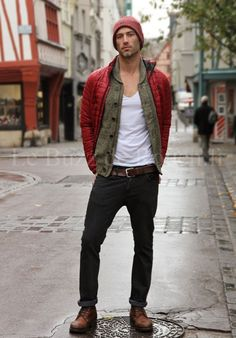 Nice layered style #MensFashionRugged