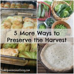 5 More Ways to Preserve the Harvest from Homespun Seasonal Living