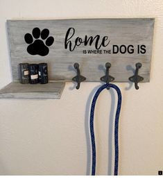 Customized Dog Leash Wall Mount & Holder Customized Dog Leash Wall Mount & Holder This Customized Dog Leash Wall Mount & Holder is just one of the custom, handmade pieces you& find in our pet storage shops. Online Pet Supplies, Dog Supplies, Dog Leash Holder, Stuffed Animal Storage, Dog Rooms, Dog Crafts, Dog Signs, Dog Accessories, Decoration