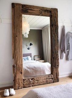 Mirrors Framed with Reclaimed Wood
