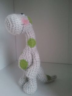Crochet dinosaur - pattern **** this is a crochet pattern pdf document NOT finished toy****  * this pattern includes: - step by step instruction - detailed photos - instruction are written in English language  * level: easy . Basic skills of crocheting are needed * size of the finished toy , high: 16cm , width: 8cm (from arm to arm ), tail: 9cm  * using this pattern you colud create toy, home decoration..... * Perfect toy for children under 3 years old > no button, no beads, no ribbon…