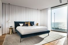 Luxury master bedroom suite with picturesque views of Perth's beautiful coastline. By Urbane Projects. Stone Flooring, Luxury Travel, Master Bedroom, Interior, Projects, Furniture, Beautiful, Home Decor, Houses