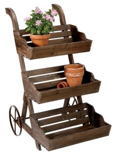 Plant Stand Floating Garden Farm Outdoor Planters Gardens Patio Plants