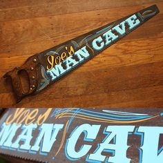 """124 Likes, 9 Comments - Nik Scarlett ⚡️ Dumb Junk (@creepnik) on Instagram: """"In case you're wondering if I finished that saw in time for yesterday.... #paintedsaw #mancave…"""" Best Woodworking Tools, Diy Painting, Tole Painting, Chalk It Up, Chalk Art, Wood Crafts, Pallet Crafts, Blade Sign, Pinstripe Art"""