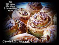 Réka alakbarát receptjei - szénhidrátcsökkentett, bűntelen finomságok: Csokis(mogyorókrémes)-kókuszos csiga Diabetic Recipes, Diet Recipes, Doughnut, Baked Potato, French Toast, Muffin, Baking, Breakfast, Health