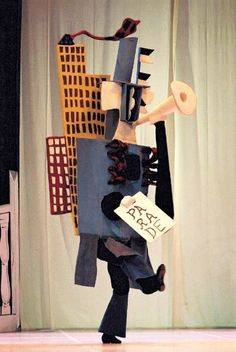 'Parade' (1917), some stage costumes designed by Pablo Picasso