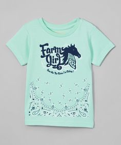 This Mint Green 'Farm Girl' Tee - Infant & Toddler is perfect! #zulilyfinds