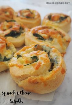 Easy Spinach and Cheese Scrolls Recipe, freezer friendly and both regular and Thermomix instructions included. Easy Spinach and Cheese Scrolls Recipe, freezer friendly and both regular and Thermomix instructions included. Savory Snacks, Easy Snacks, Savoury Finger Food, Kid Snacks, Night Snacks, Savoury Recipes, School Snacks, Scrolls Recipe, Tapas