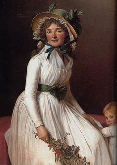 Emilie Seriziat by Jacques-Louis David, 1795