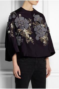 Biyan Kinara embellished faille jacket NET-A-PORTER.COM