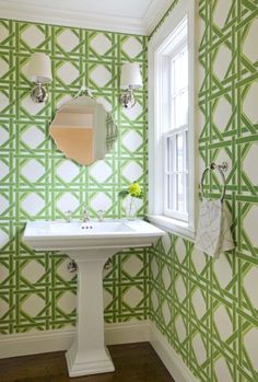 WALLPAPERING OUR POWDER ROOM - Design Darling