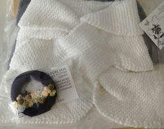 Vintage inspired Miss Marple Scarf and Dorset brooch available in any colour from @Ellies Purl Jam on facebook