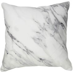 Marble Pillow ($50) ❤ liked on Polyvore featuring home, home decor, throw pillows, marble throw pillow, contemporary throw pillows, gray throw pillows, grey home decor and grey accent pillows