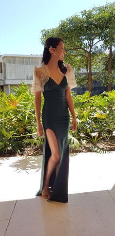Modern Filipiniana on a budget Modern Filipiniana Gown, Filipiniana Wedding Theme, Gown Wedding, Filipino Fashion, Asian Fashion, Couture Dresses, Fashion Dresses, Filipino Wedding, Barong