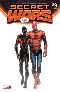 Secret Wars #9 variant cover - Spider-Man and Ultimate Spider-man by Sara Pichelli *