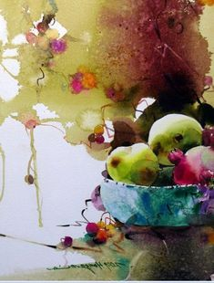 Daum 블로그 Painting Still Life, Watercolor Paintings, Painting, Illustration Art, Art, Korean Painting, Fruit Painting, Abstract, Art Pictures