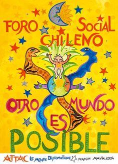Afiche Otro Mundo Es Posible. Federica Matta